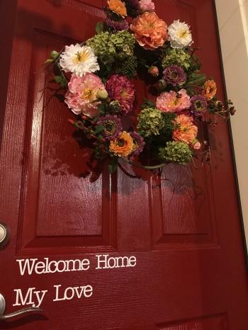 welcome home my love